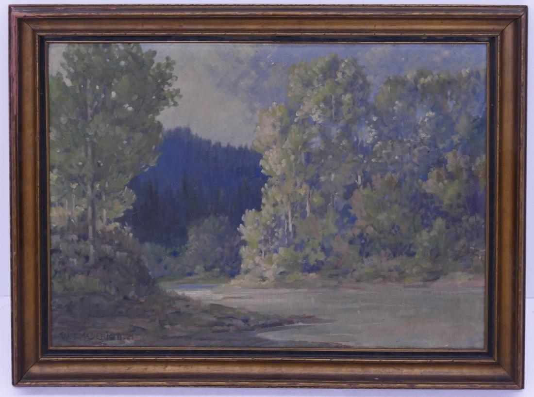 William McDermitt (1884-1961 California) River Scene - 2