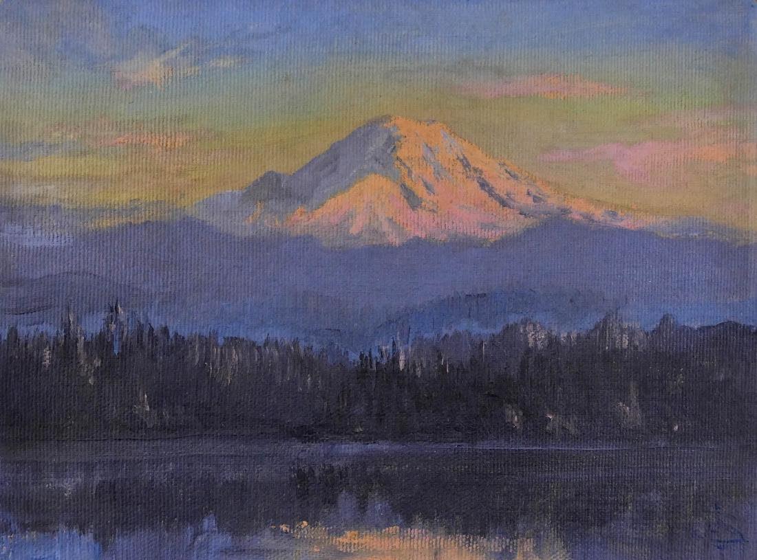 Lionel Salmon (1885-1945 Washington) Mount Rainier Oil