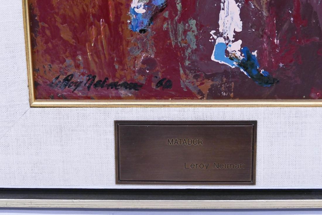LeRoy Neiman (1921-2012 New York) ''Matador'' 1960 Oil - 3