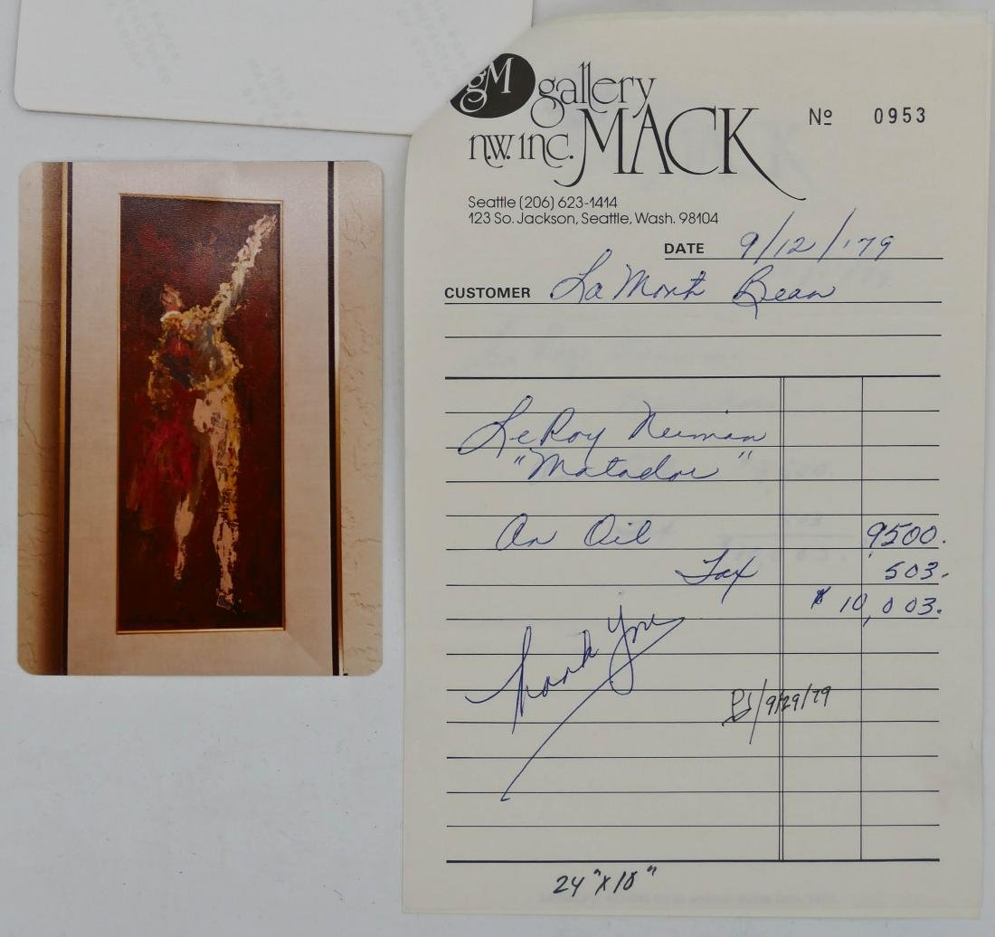 LeRoy Neiman (1921-2012 New York) ''Matador'' 1960 Oil - 4