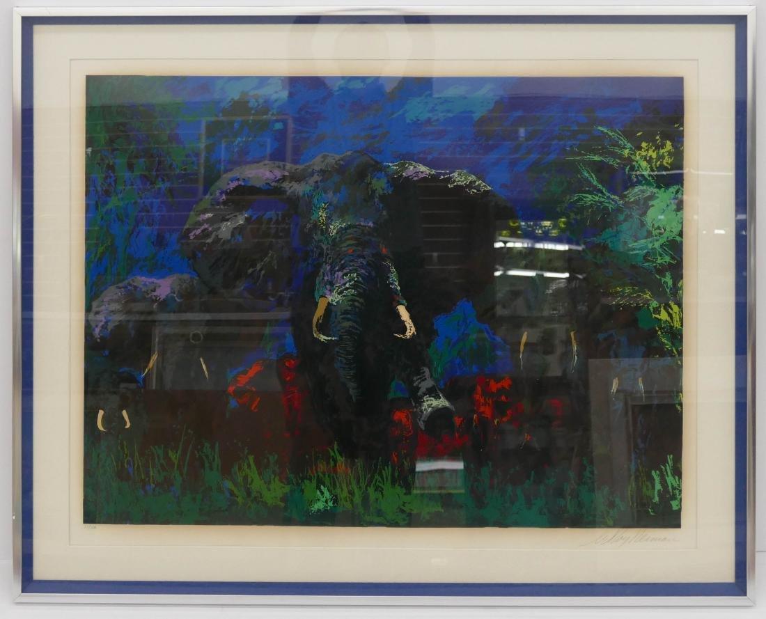 LeRoy Neiman ''Elephant Stampede'' 1976 Silkscreen in - 2