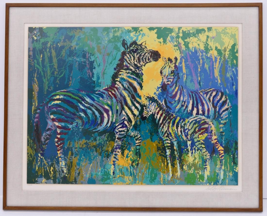 LeRoy Neiman ''Zebra Family'' 1978 Serigraph in Colors - 2