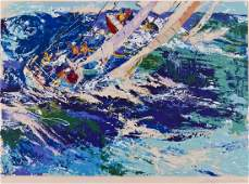 LeRoy Neiman High Seas Sailing 1976 Silkscreen in
