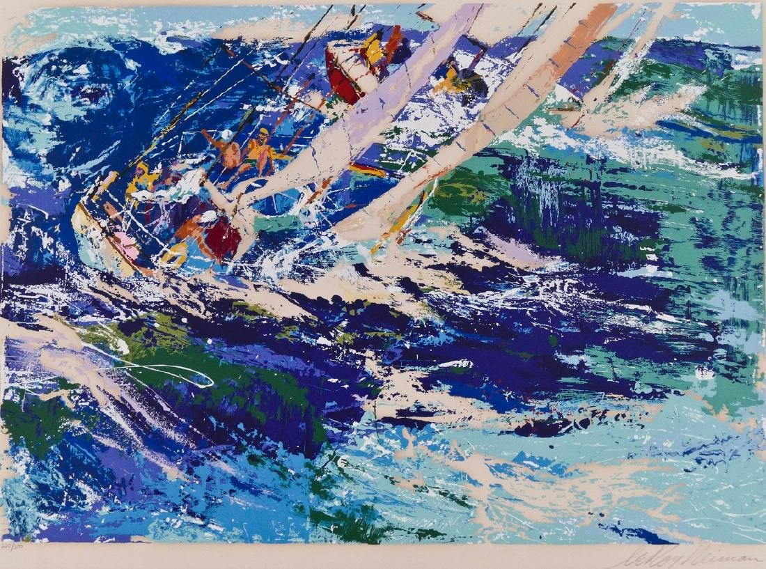 LeRoy Neiman ''High Seas Sailing'' 1976 Silkscreen in