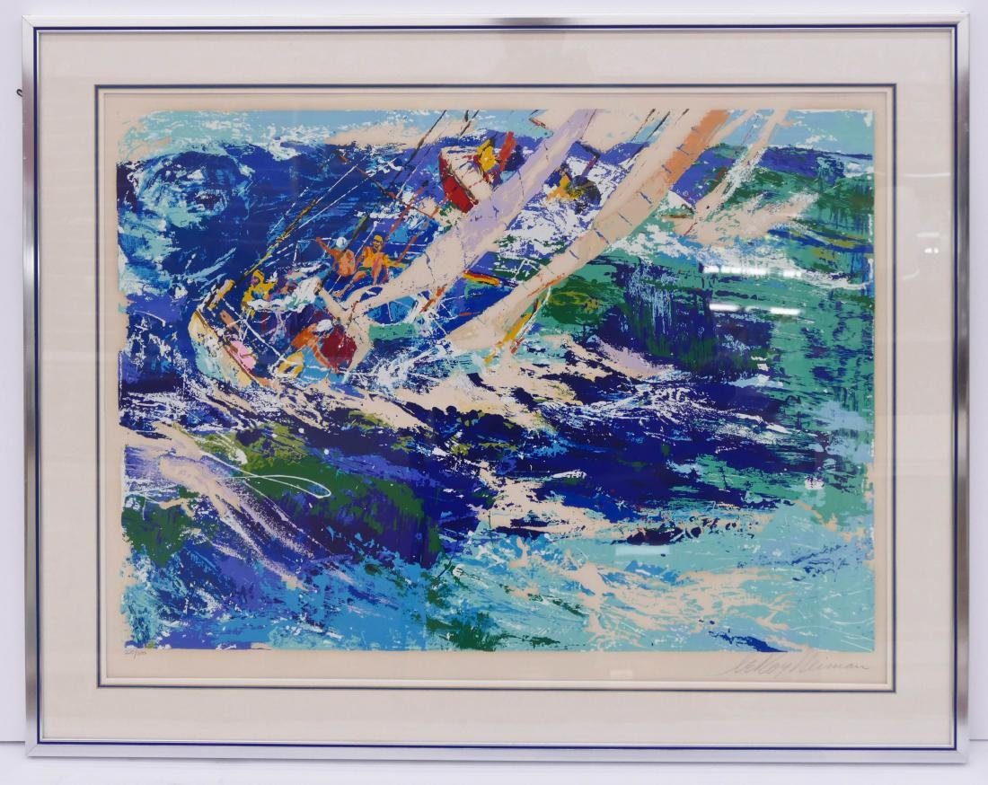 LeRoy Neiman ''High Seas Sailing'' 1976 Silkscreen in - 2