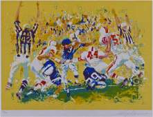 LeRoy Neiman Touchdown 1973 Serigraph in Colors