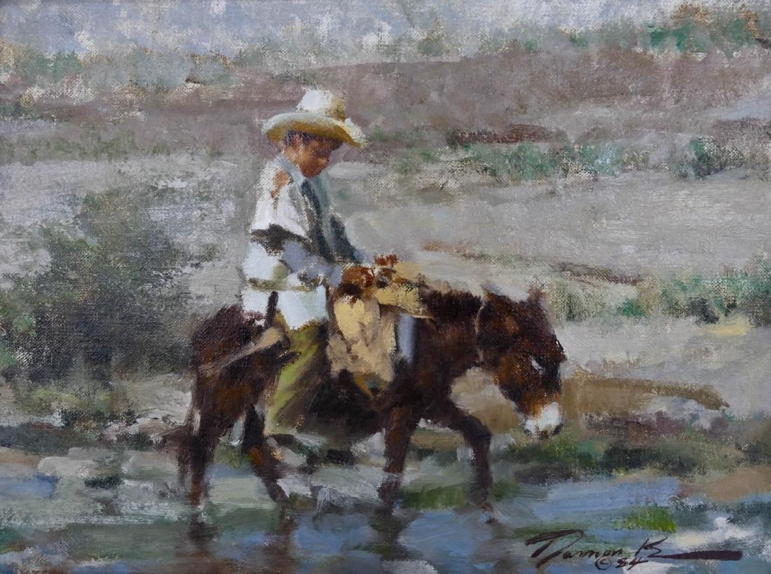 Ramon Kelly (b.1939 Wyoming) ''Mi Burrito'' 1984 Oil on