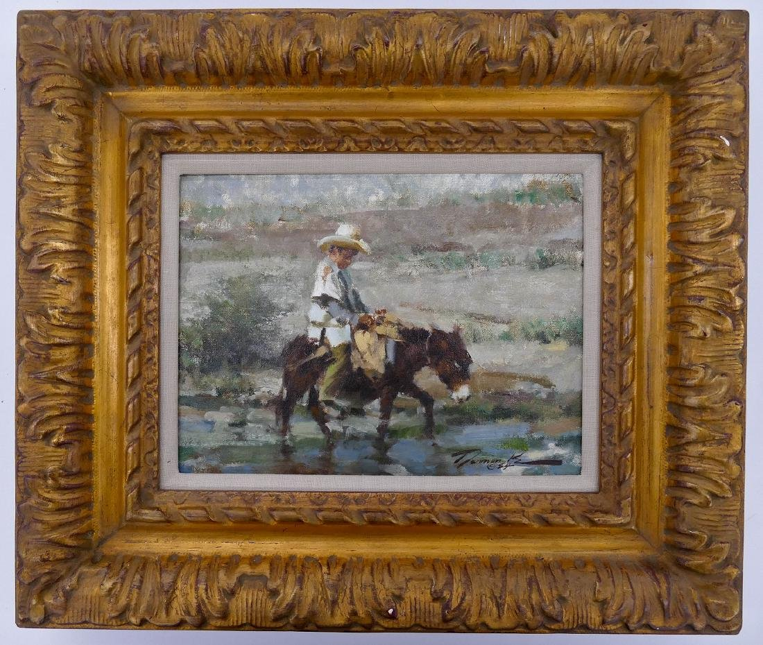Ramon Kelly (b.1939 Wyoming) ''Mi Burrito'' 1984 Oil on - 2