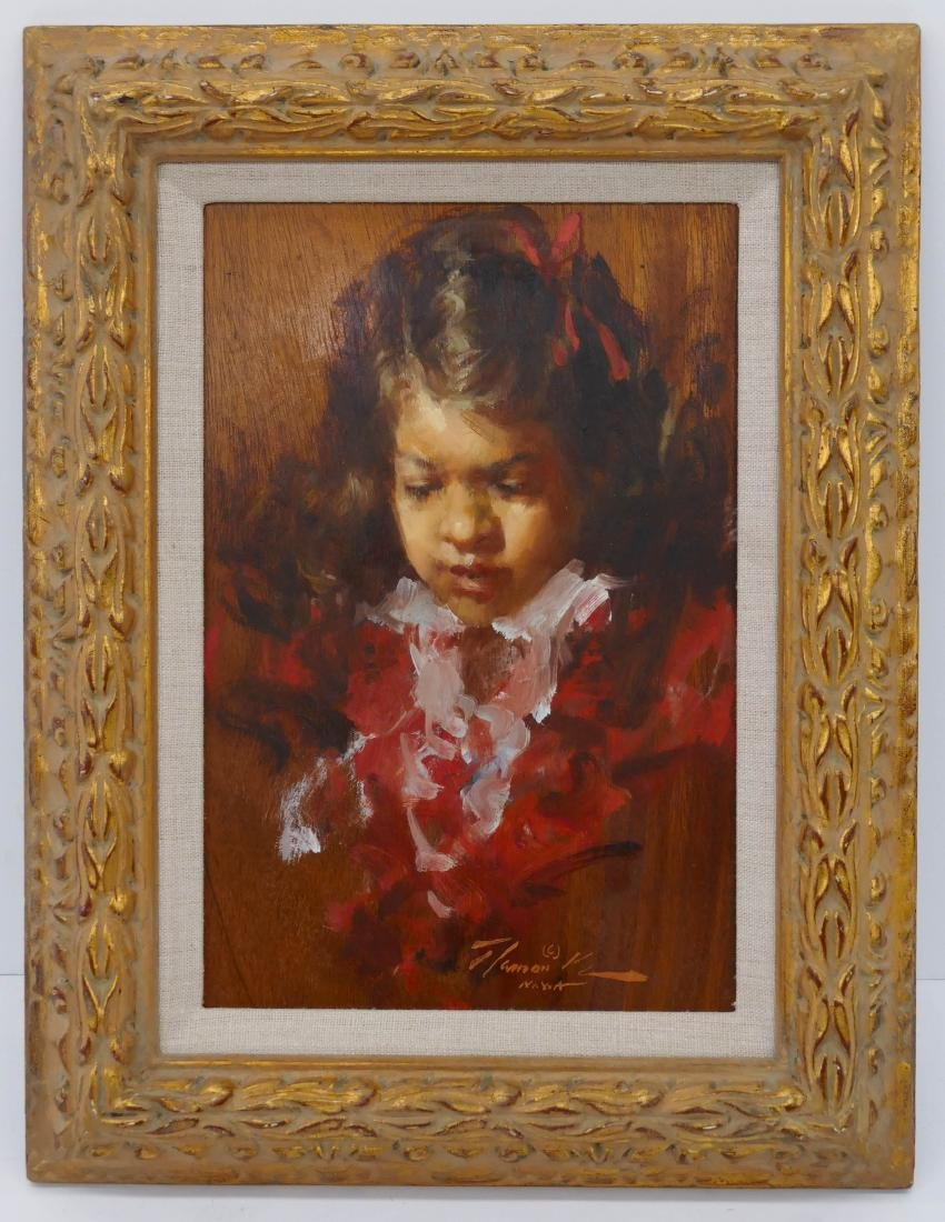 Ramon Kelly (b.1939 Wyoming) ''Red Ribbon Little Girl'' - 2