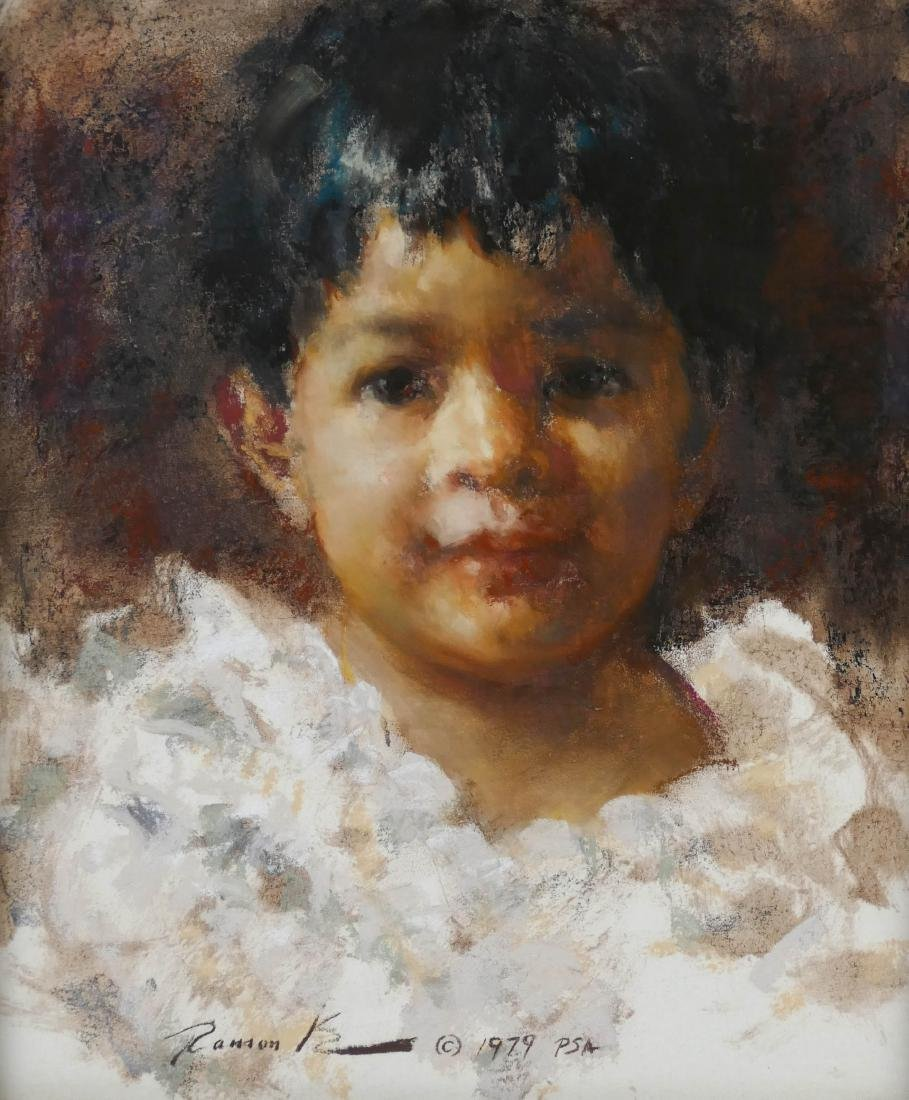 Ramon Kelly (b.1939 Wyoming) ''Cheli'' 1979 Pastel on