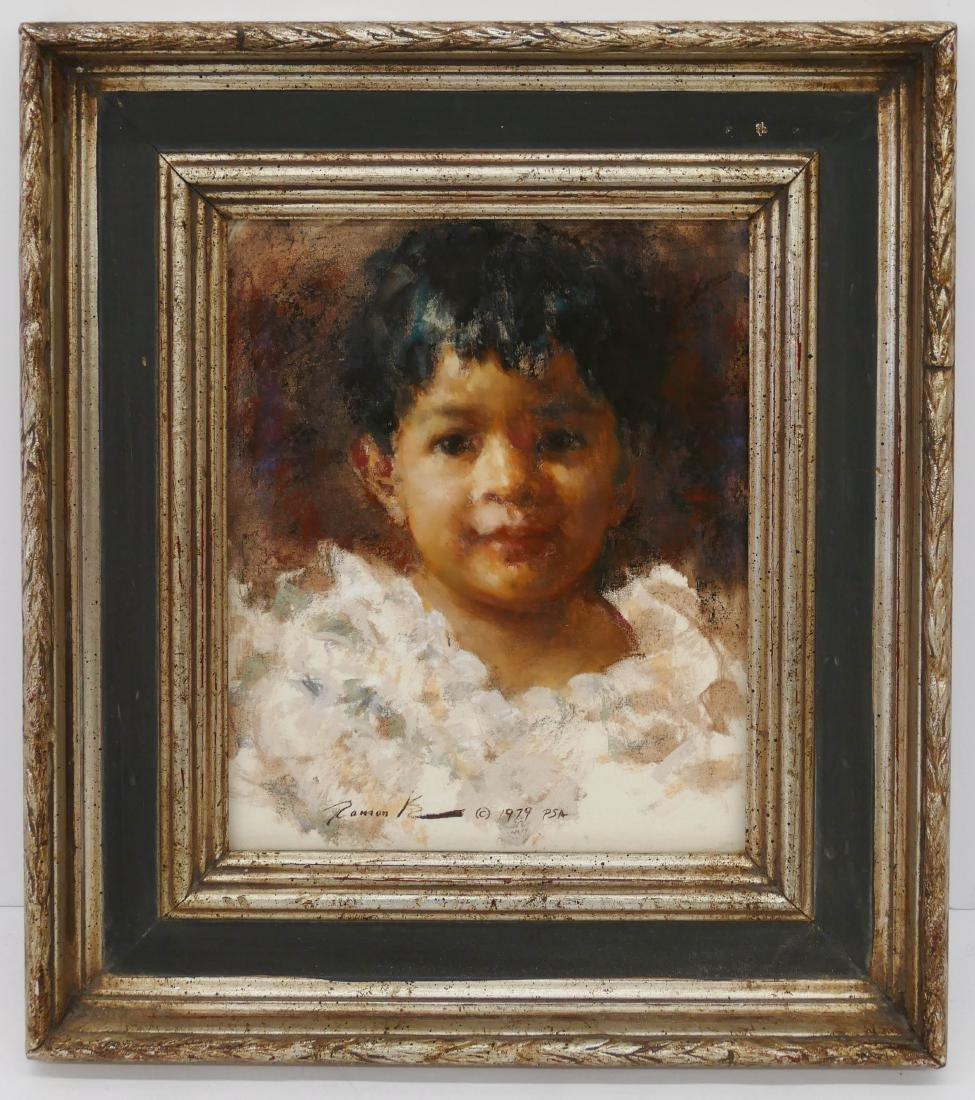 Ramon Kelly (b.1939 Wyoming) ''Cheli'' 1979 Pastel on - 2