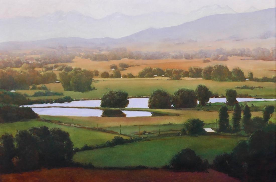 June Stratton (b.1959 Washington) ''Yakima Valley'' Oil