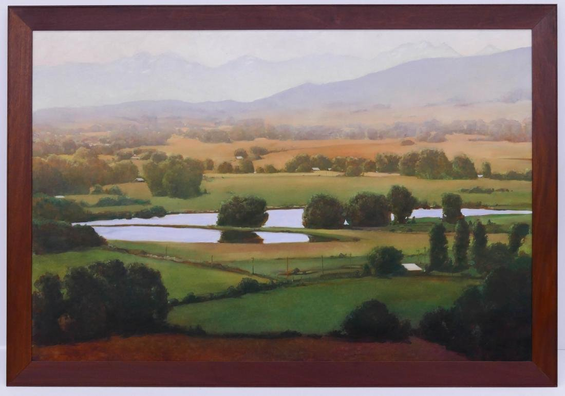 June Stratton (b.1959 Washington) ''Yakima Valley'' Oil - 2
