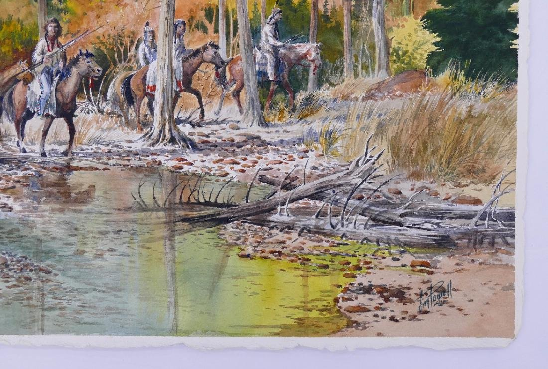 Jim Powell (20th Cent. Texas) Indians on Horseback - 2