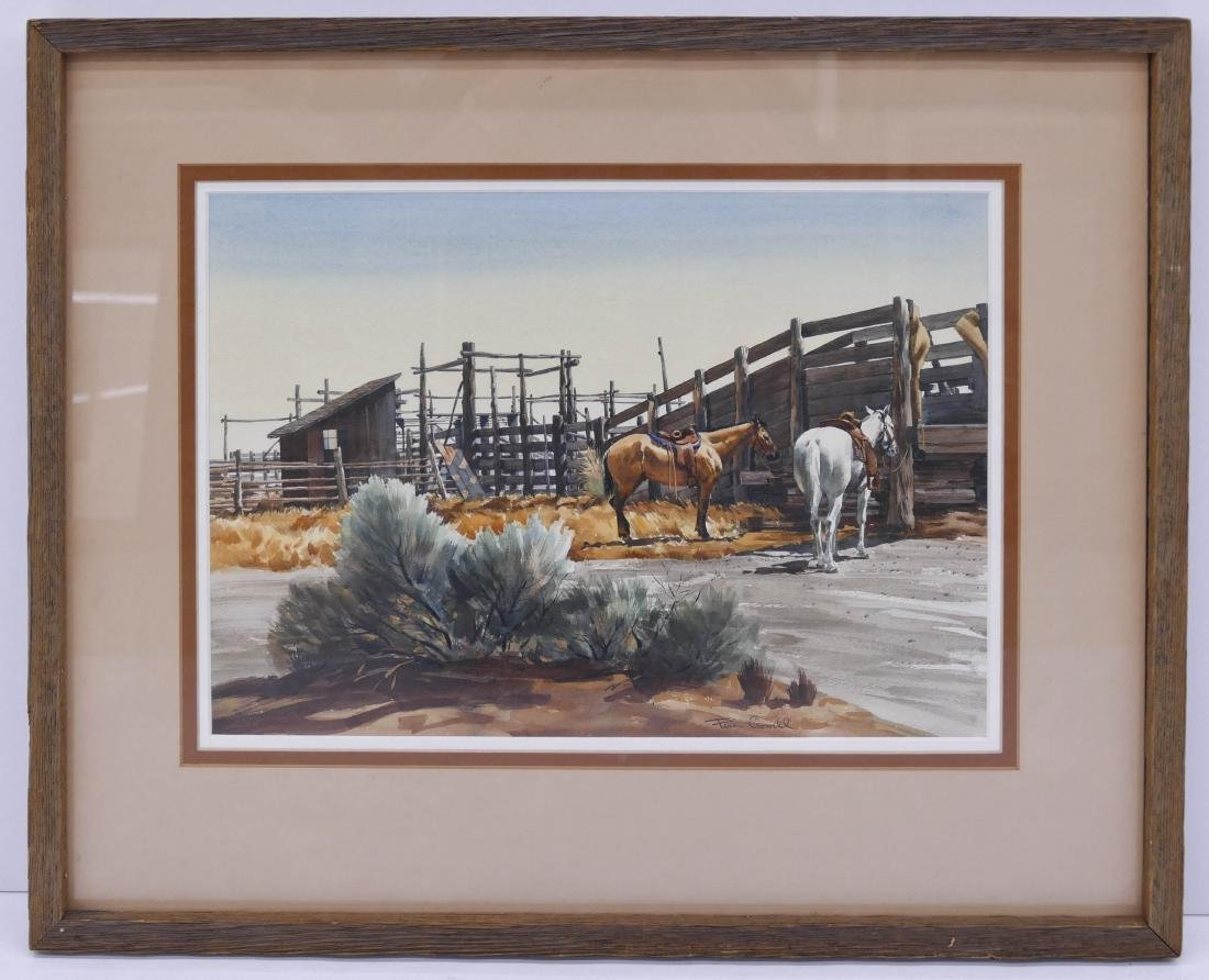 Pers Crowell (1910-1990 Washington) Horse Stable - 2
