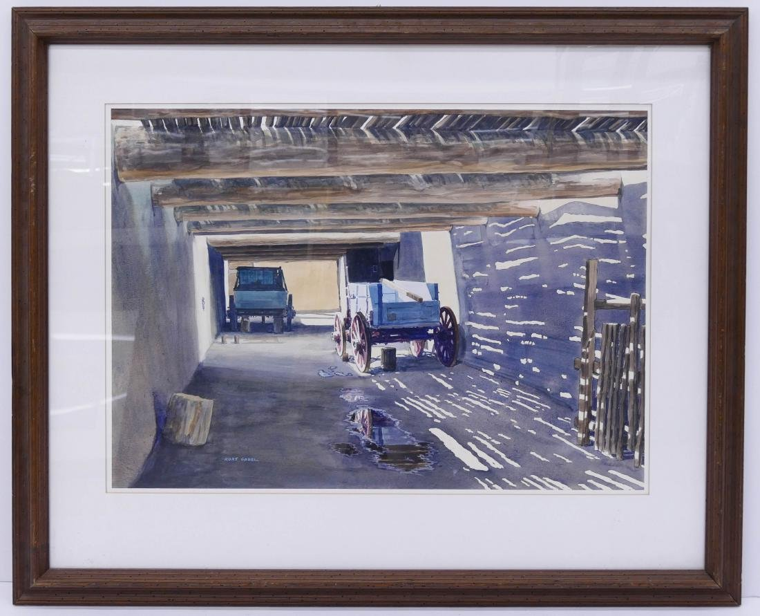Kurt Gabel (1929-2006 Colorado) ''Along the Sante Fe - 2