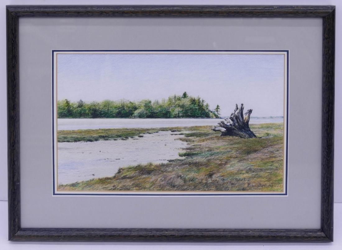Don Gray (b.1948 Oregon) Untitled River Scene Pastel on - 2