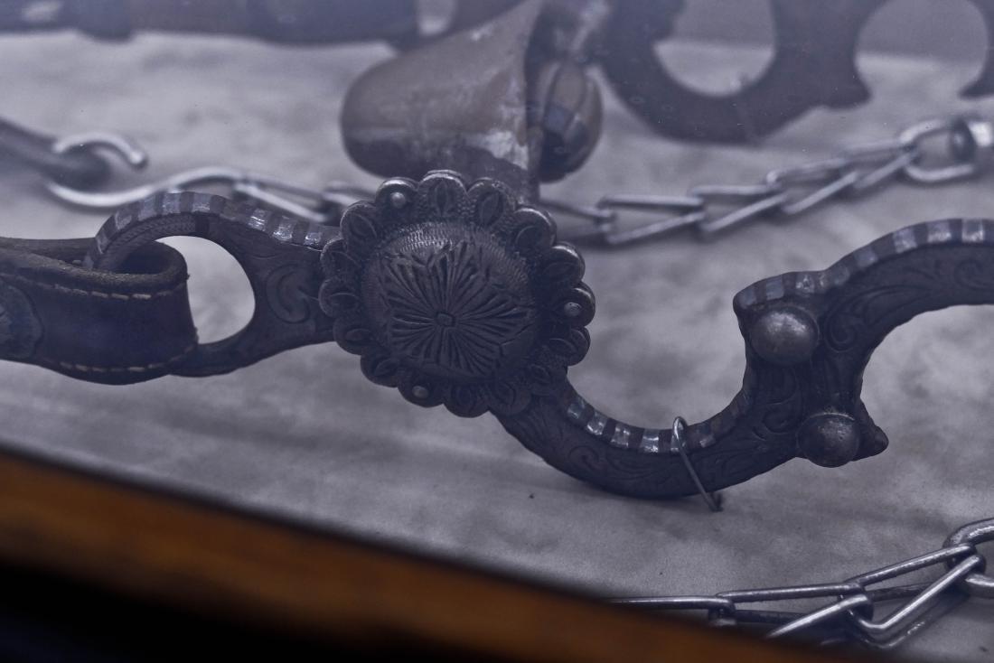 Antique Silvered Horse Bit in Shadowbox Display Frame - 2