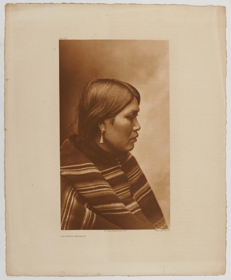 Edward Curtis ''Squaxon Matron'' Plate 307 Photogravure - 2