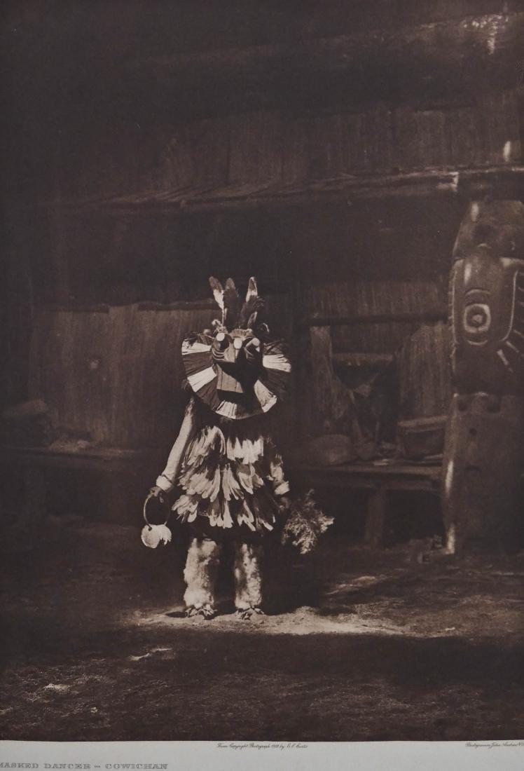 Edward Curtis ''Masked Dancer - Cowichan'' Plate 326
