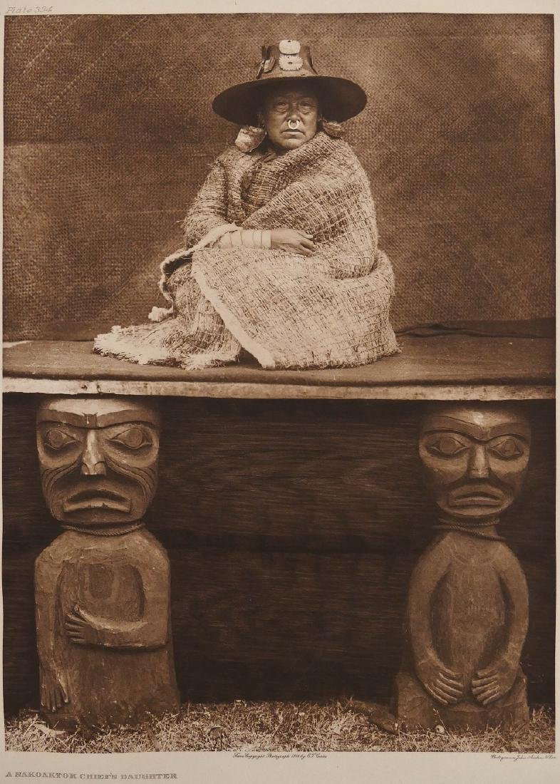 Edward Curtis ''A Nakoaktok Chief's Daughter'' Plate