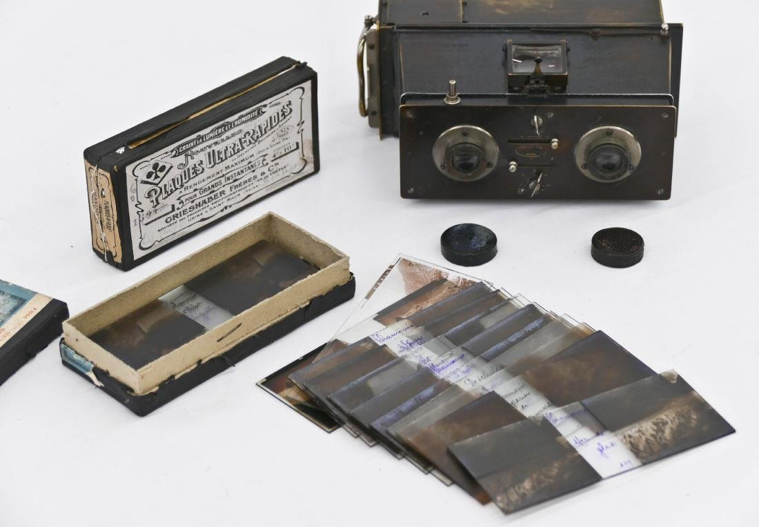 Antique Jules Richard Verascope Stereo Camera with - 2