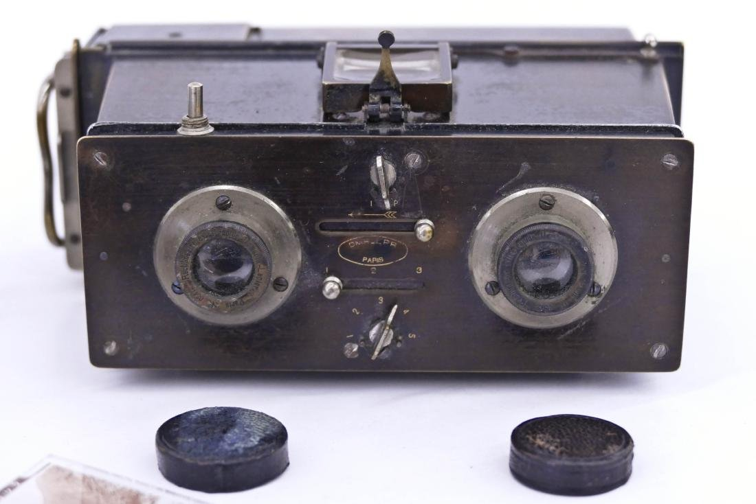 Antique Jules Richard Verascope Stereo Camera with - 3