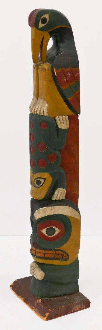 Makah ''Young Doctor'' Carved Totem Pole Model