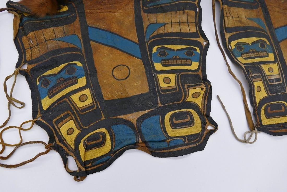 Pair Old Haida Painted Dance Leggings 16''x15'' Each - 2