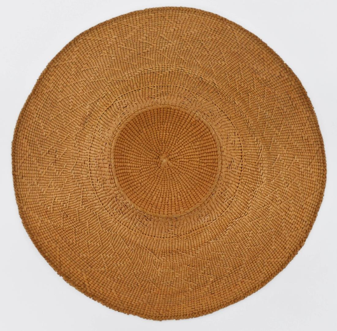 Haida Spruce Root Basketry Hat 5''x15''. Finely woven - 2