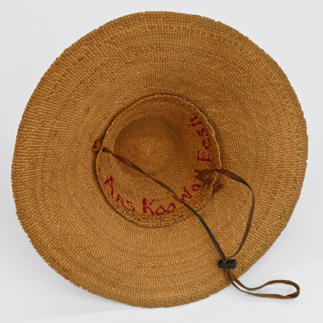 Haida Spruce Root Basketry Hat 5''x15''. Finely woven - 3