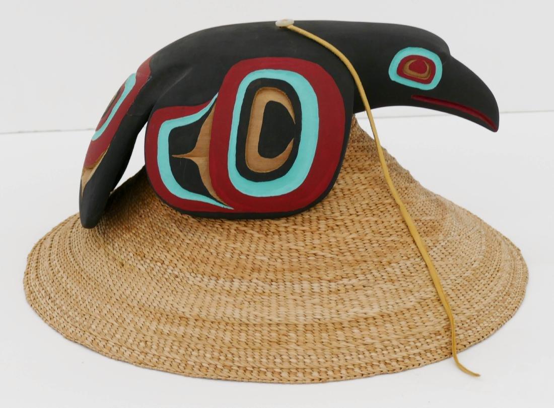 Clarence Peele Jr. (21st Cent. Haida) Cedar Raven Hat 8
