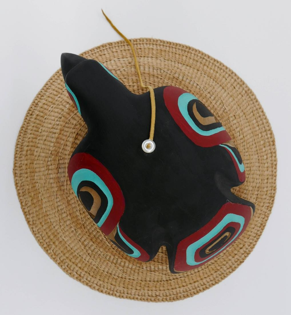 Clarence Peele Jr. (21st Cent. Haida) Cedar Raven Hat 8 - 2