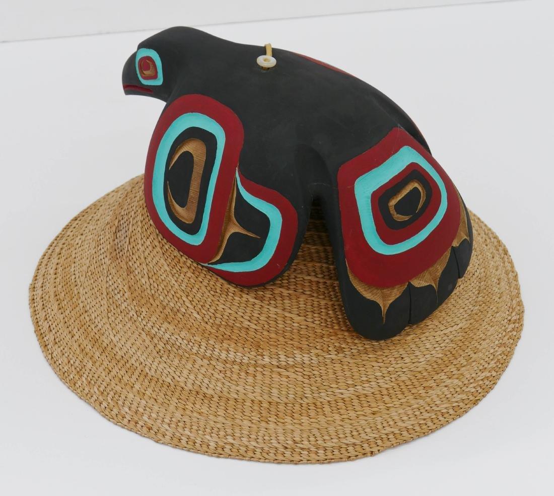 Clarence Peele Jr. (21st Cent. Haida) Cedar Raven Hat 8 - 3