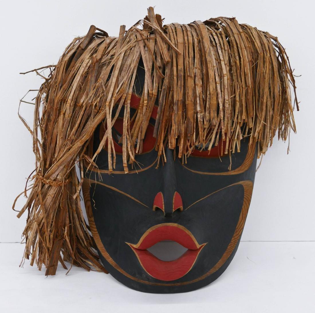 Micah Vogel (b.1974 Makah) Wild Woman 1996 Cedar Mask