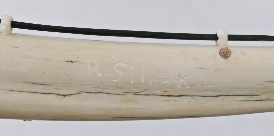 R. Silook Alaskan Polar Bear Cribbage Board 2''x19''. - 3