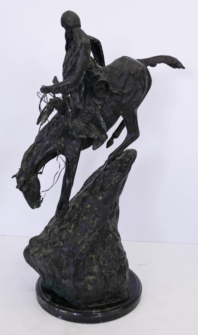 After Frederic Remington ''Mountain Man'' Bronze - 2