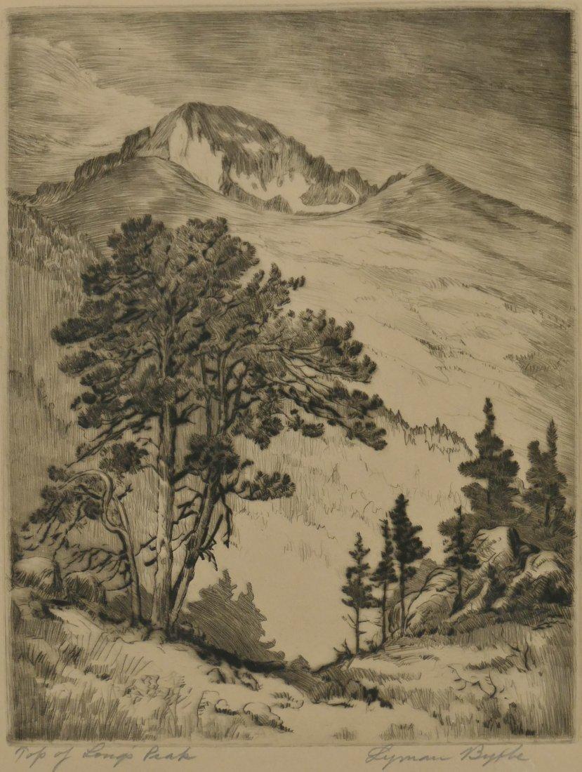 "2pc Lyman Byxbe (1886-1980 American) ""Hallett's Peak"" a - 2"