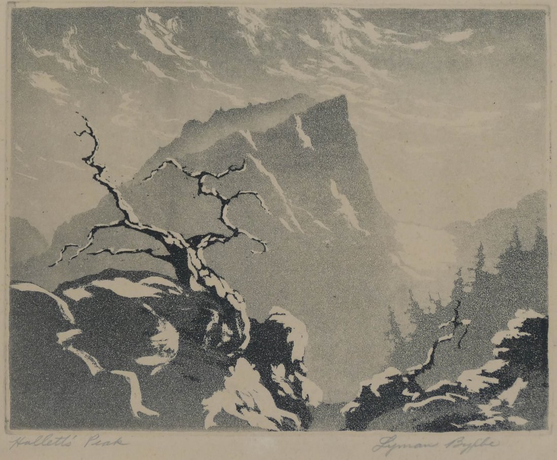 "2pc Lyman Byxbe (1886-1980 American) ""Hallett's Peak"" a - 3"
