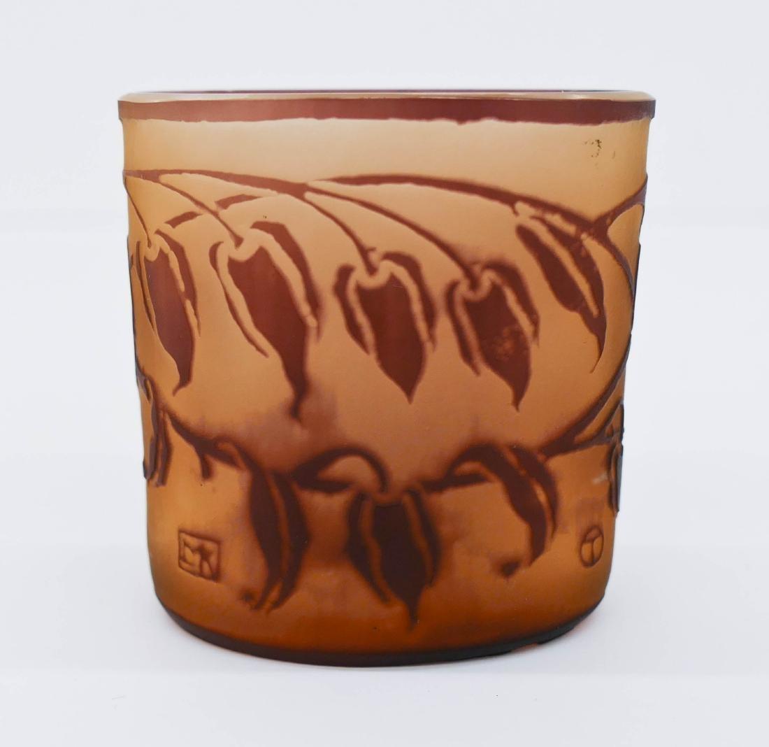Moser Otto Tauschek Cameo Glass Curio Vase 2.5''x2.5''.