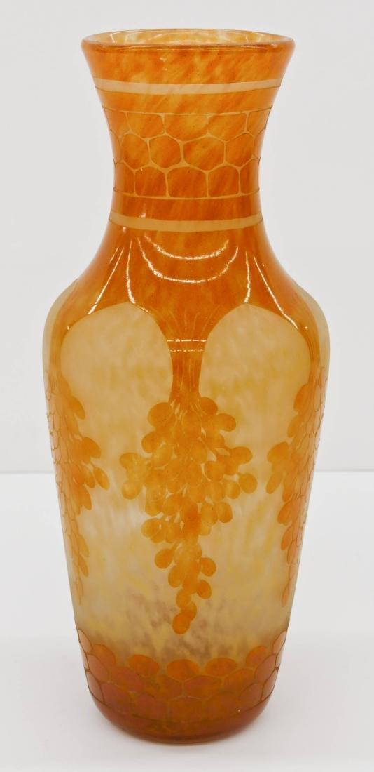 Large Charles Schneider ''Dattiers'' Cameo Glass Vase
