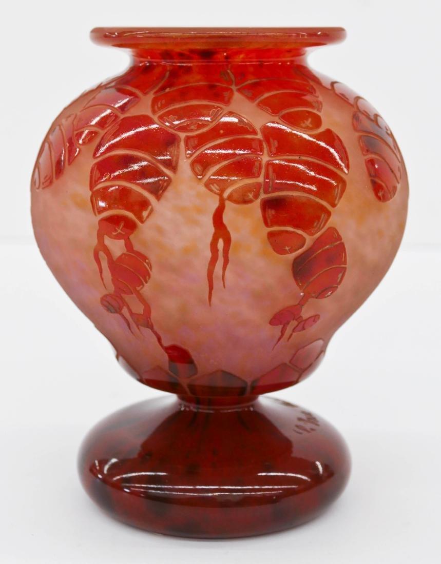 Charles Schneider ''Cedres'' Cameo Glass Vase