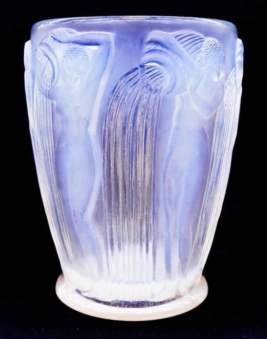 Le Marché Biron - René Lalique Opalescent Danaides Vase