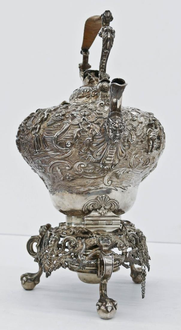 Impressive Edward Farrell Regency English Silver Kettle - 10