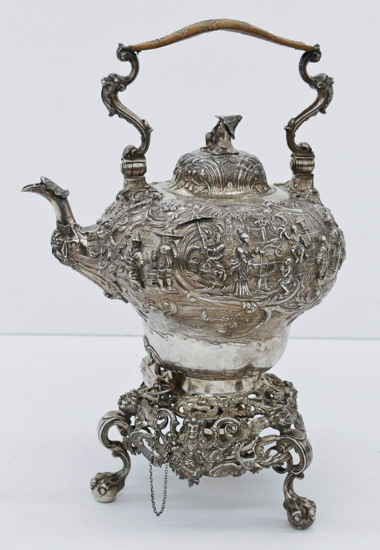 Impressive Edward Farrell Regency English Silver Kettle
