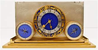Angelus Swiss Zodiac Desk Clock 5x10x3 Art deco