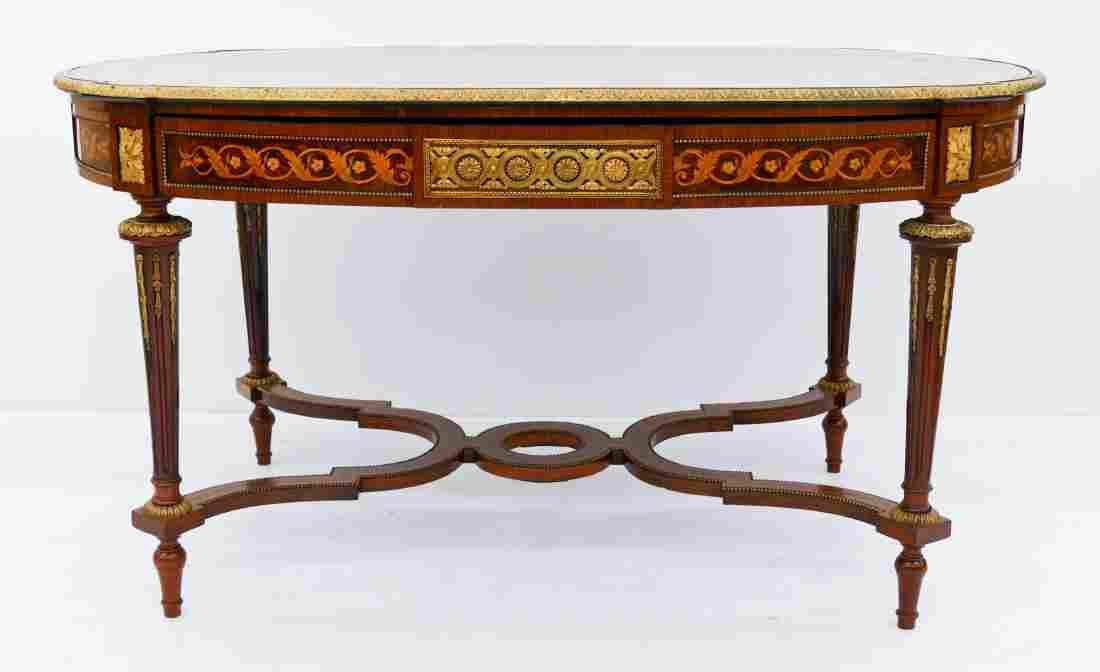 French Louis XV Style Ormolu Mounted Desk