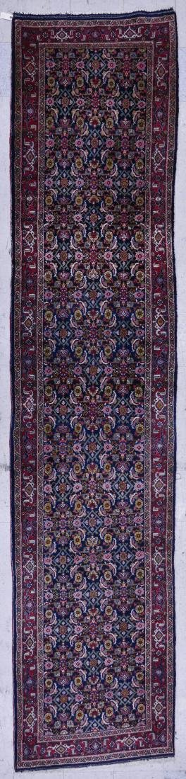 Semi Antique Persian Runner Oriental Rug 3'6''x14'6''.