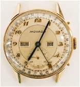 Vintage Movado 14k Gold Chronometer Wrist Watch.