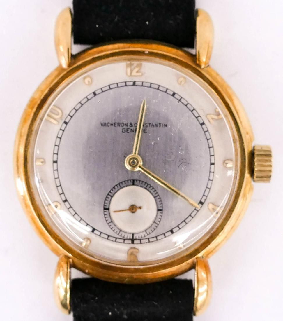 Vintage Vacheron & Constantin 18k Gold Wrist Watch.